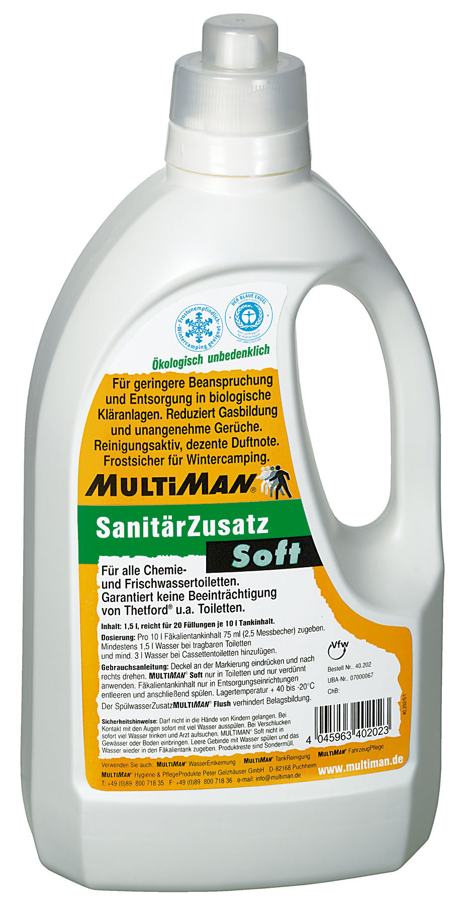 Toilettenchemie_MultiSan_Soft_Toilettenzusatz_1500_Dosierflasche