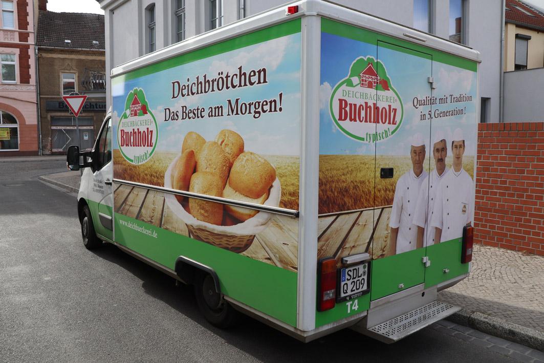 B-ckergl-ck-Verkaufswagen