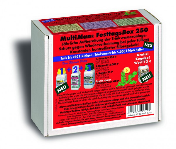 .FesttagsRedBox 250 für Trinkwassertanks bis 250 l Inhalt